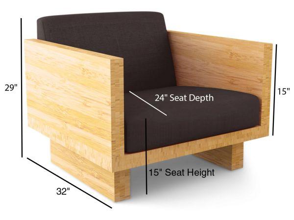 Bamboo Float Armchair - Stem