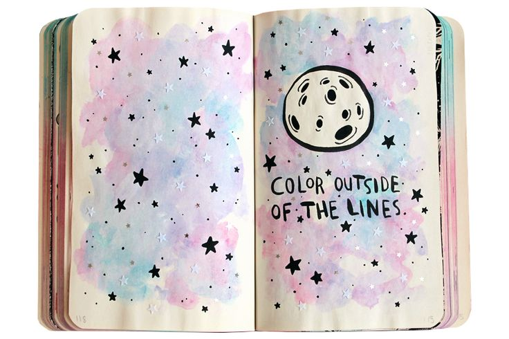 Wreck this journal ideas: color outside the lines