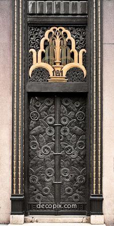 Art Deco door, Cheney Brothers Bldg., NYC. Stunning.