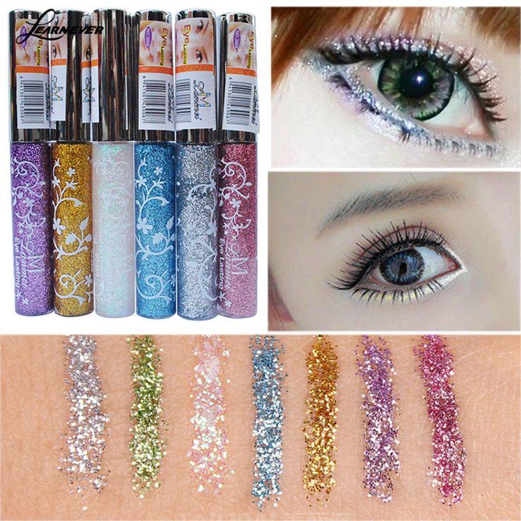 Marka Makijaż Wodoodporny Eyeliner Pencil Pen Shining Cieczy Eyeliner Glitter Eye Pencil Makijaż Kosmetyki Darmowa Wysyłka M03051