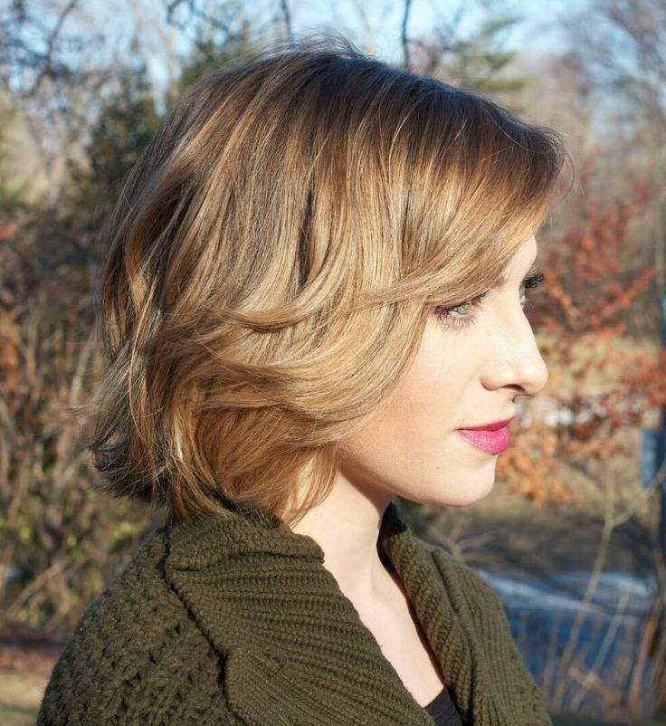 Dark blonde layered bob