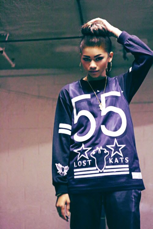 Pics: Zendaya Modeling Lost Kats Fall 2013 Clothing