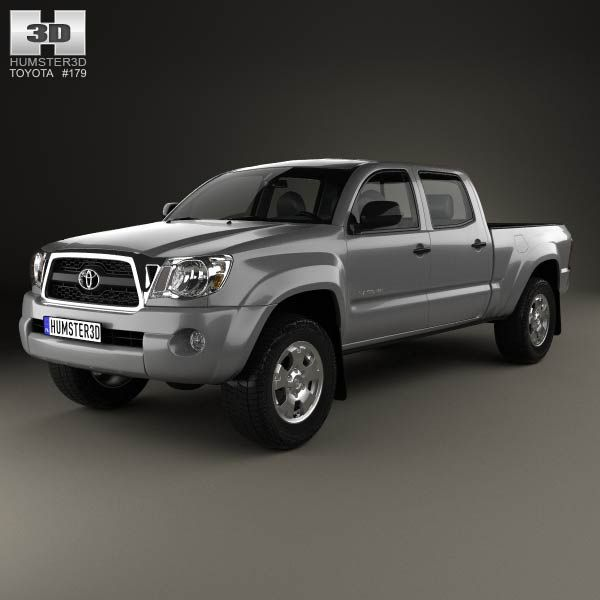 Toyota Tacoma Double Cab Long Bed 2011 3d model from humster3d.com. Price: $75