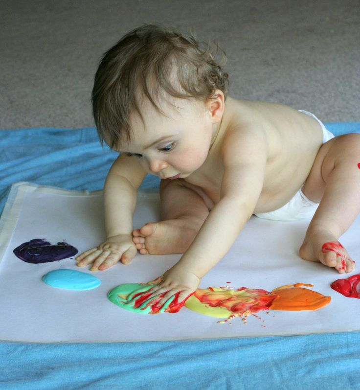 Scented Homemade Edible Fingerpaint Recipe: Baby and Toddler Friendly! from Fun at Home with Kids