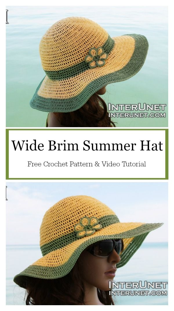 c59b7c5c7e5 Wide Brim Summer Hat Free Crochet Pattern and Video Tutorial   freecrochetpatterns