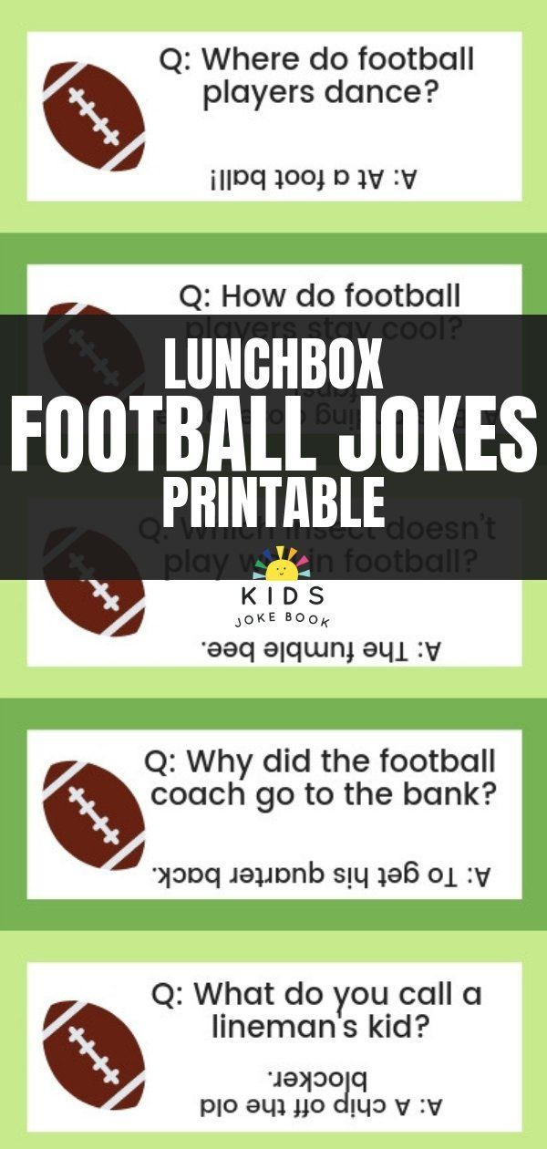 If Your Kid Loves American Football Check Out Our Favorite Funny Football Jokes For Kids They Might Football Jokes Football Jokes Funny Football Quotes Funny