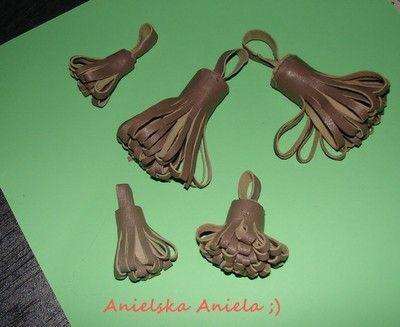 DIY Tutorial leather tassel jak zrobić frędzle, chwosty skórzane?