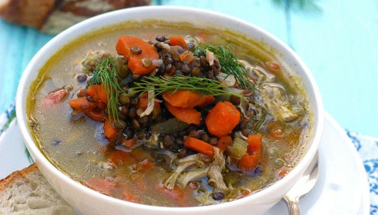 Lentil Chicken Soup | Soups n Salads | Pinterest