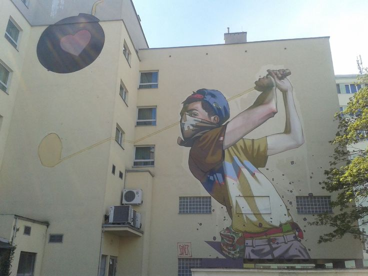Mural in Gdynia. Made by Sainer (Etam Cru)