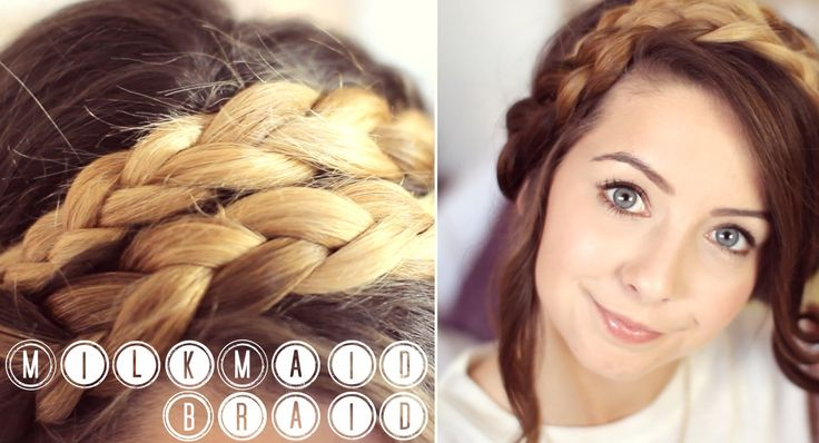 How To: MilkMaid Braid Up-do | Zoella - love this girl <3 she's amazing!! @Zoe Sugg