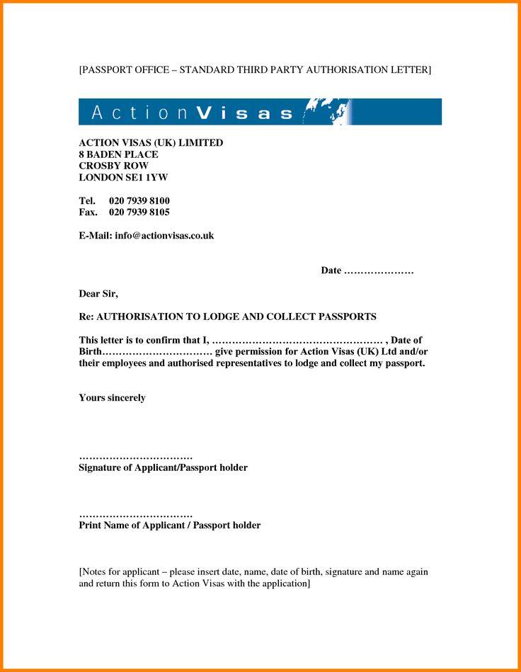 passport office standard third party authorisation letter free - lost passport form