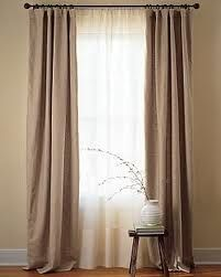 Sliding glass door curtains will be two layer treatment with white geometric sheer and amethyst or gray curtains