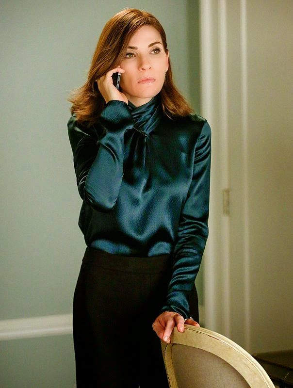 "Alicia's Jason Wu Tie Bar Blouse The Good Wife Season 6, Episode 4: ""Oppo Research"""