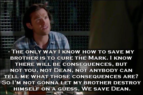 Supernatural Quote We Save Dean Supernatural Quotes Tv