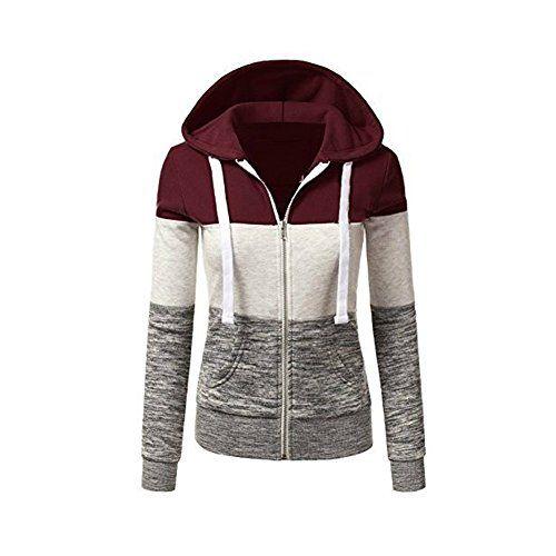 hot sale online 521dc b8665 Newbestyle Jacke Damen Sweatjacke Hoodie Sweatshirt Pullover ...