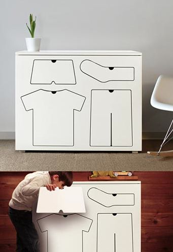 Clever furniture design - and you will always find your clothes