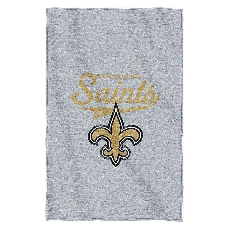 Officially Licensed NFL Sweatshirt Throw - Saints