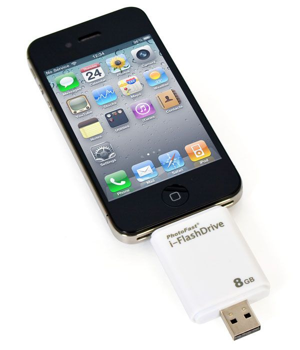 iFlashDrive is the world first flash drive for iOS devices. Now you can transfer data without wires or having to go through iTunes. It is available in 8GB 16GB and 32GB and works with all iOS devices including New iPad.
