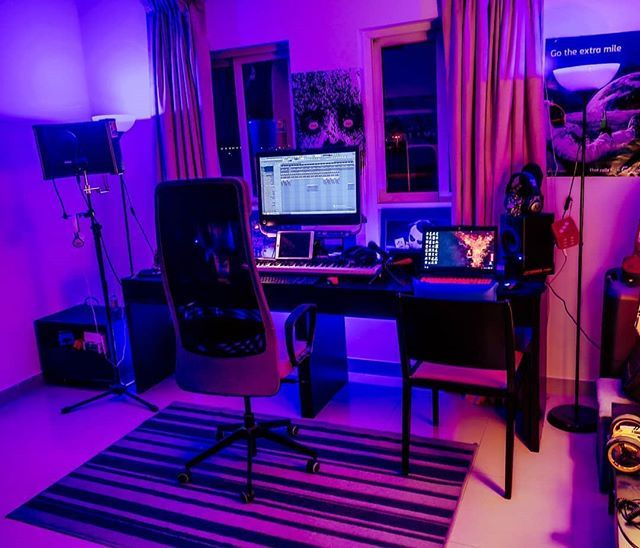 Nice Studio Vibes With This Setup Running Fl Studio By Wway1875 Musicstudio Musicproducer Music Studio Room Music Studio Home Studio Setup