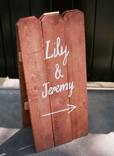 #signs Photography by esthersunphoto.com  Read more - http://www.stylemepretty.com/2013/09/26/san-ysidro-ranch-wedding-from-esther-sun-photography/