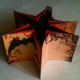 Halloween star book - open. View 2 of 2.