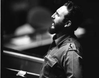 Fidel Castro speaks at the U.N. Assembly on Sept. 26, 1960.