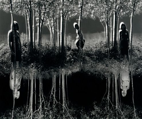 "Jerry Uelsmann : Small Woods Where I Meet Myself 1967 - No Photoshop, Jerry Uelsman began to create his ""surrealistic photographs"" in the fifties, overlapping the negative."