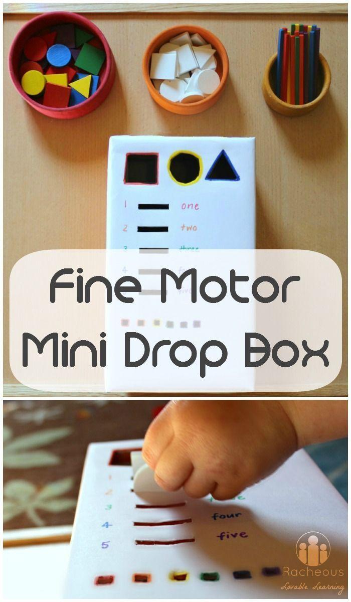 Fine Motor Mini Drop Box DIY | Simple toddler playful learning