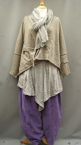 Lilac, white and stone. La Bass~ Just in~ PURPLE ~ Needle cord ~Tulip Trousers