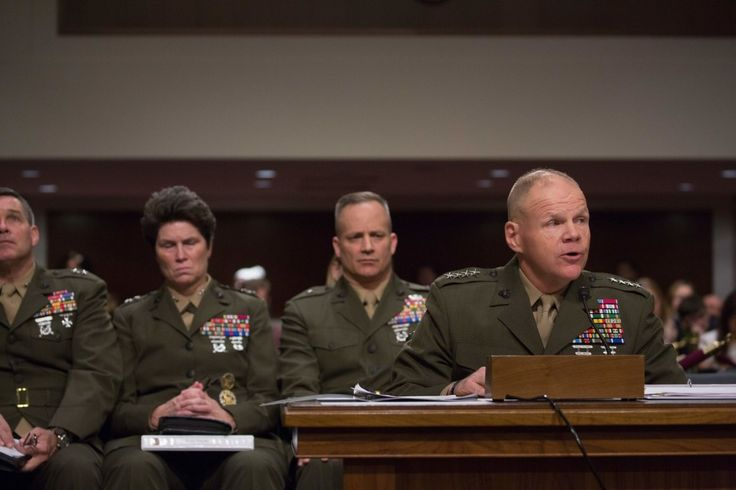 """How much more do the female members of our Marine Corps need to do to be accepted? Was it not enough when we lost female Marines in combat?"" Marine Corps Commandant Robert Neller said, t..."