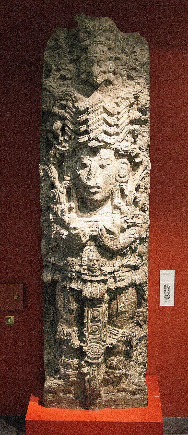 Stela A Copan 02 - Ancient Maya art - Wikipedia, the free encyclopedia