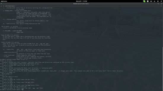 Linux: How to burn a CD/DVD through the command line