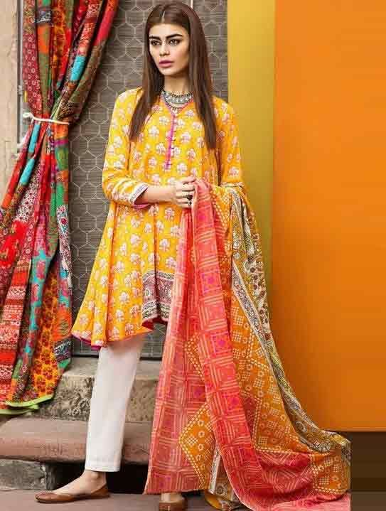 000f7cdfb0 Pakistani Lawn Dresses Stitching Designs For Girls In 2019 in 2019 ...