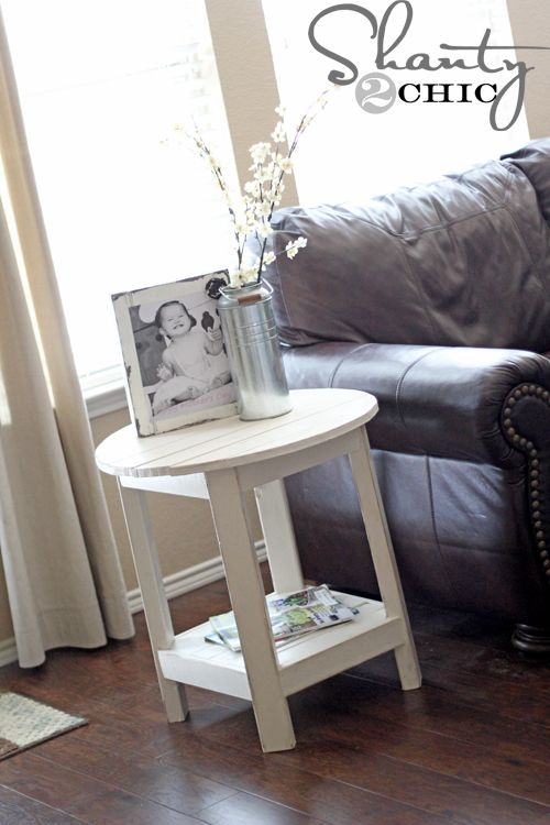 DIY Pottery barn inspired side tables for about $25 each...