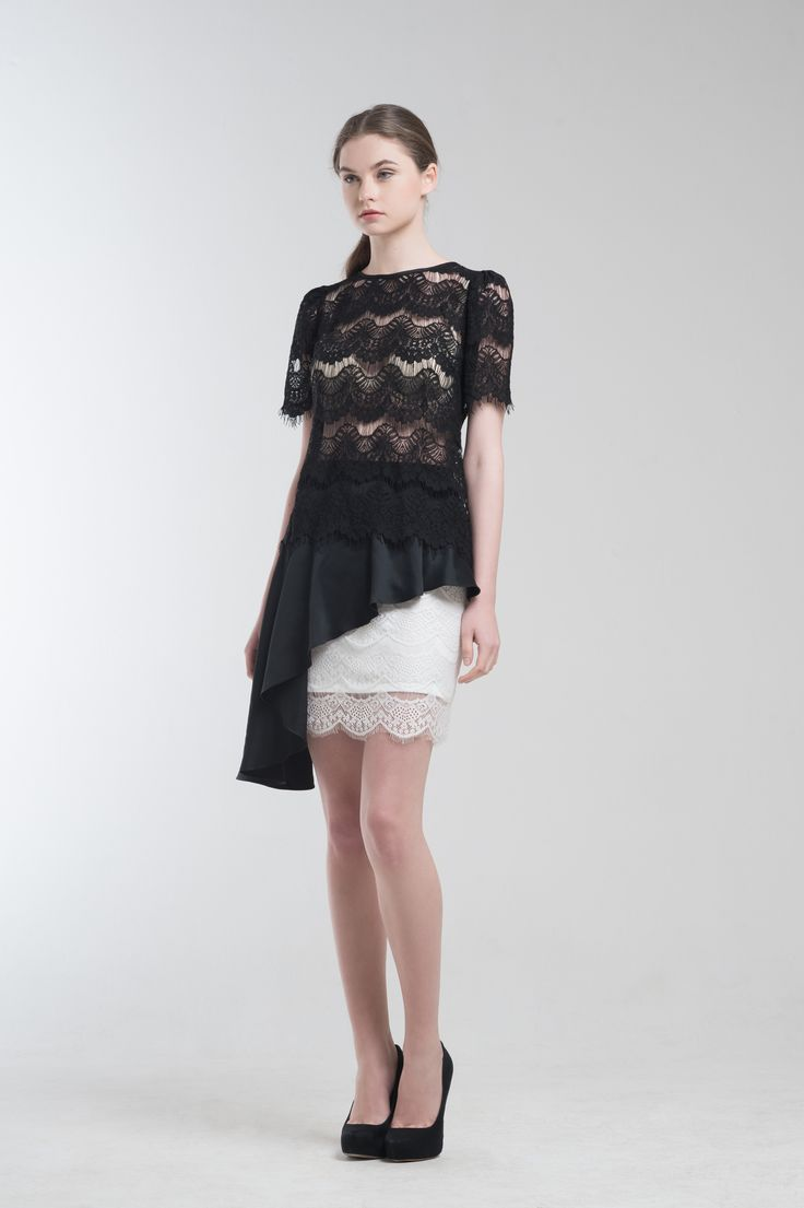 Libby Lace Scallop Sheer and Reiss Skirt from Jolie Clothing  #JolieClothing www.jolie-clothing.com  #Fashion #designer #jolie #Charity #foundation #World #vision #indonesia  #online #shop #stefanitan #fannytjandra #blogger