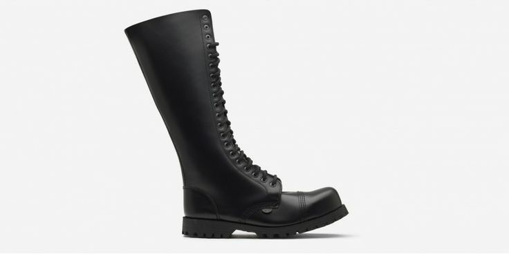 Gripper Steel Cap Boots Black Leather