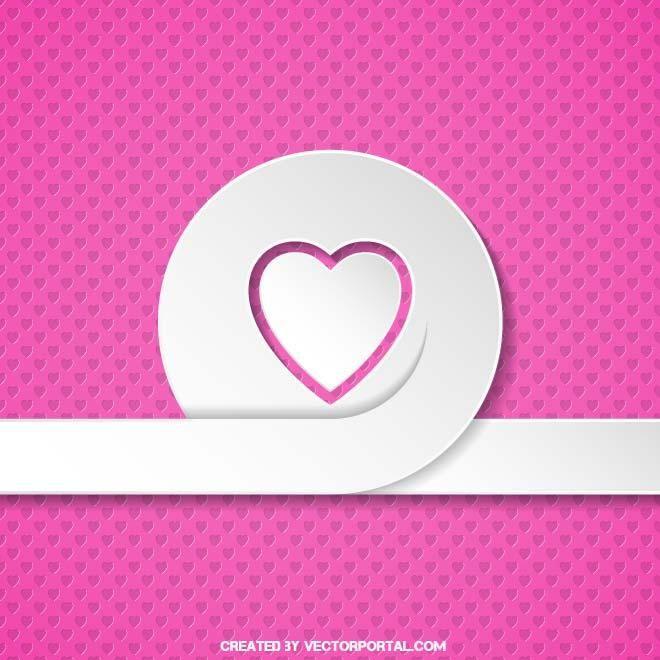 Pink love vector illustration.