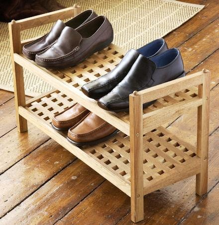 By The Front Door, For Day To Day Shoes. Wood Shoe RackShoe Storage ...
