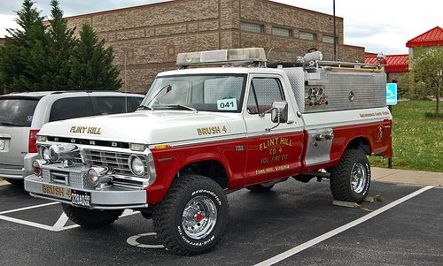Ford Highboy brush truck