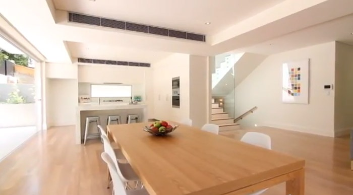 dinning room and kitchen. interiors. Decorator: Jeni Jewell Designs