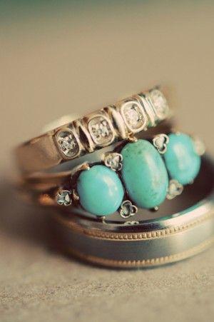 I love the turquoise/diamond combo