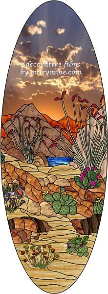 Arizona 2 Oval Decorative Window Film
