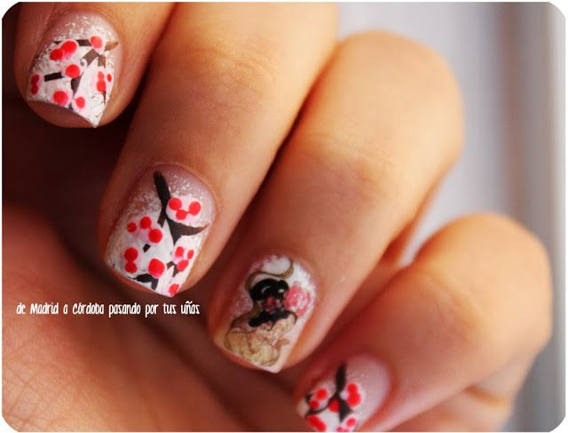japan nails uñas japonesas manicura manicure sakura nails waterdecal japan