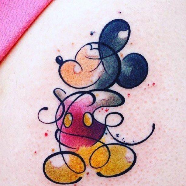 Tatuaje de la silueta de Mickey Mouse de Disney