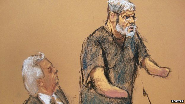 Jan. 9, 2015 - Radical Muslim cleric Abu Hamza al-Masri has been sentenced to life in prison by a court in New York for supporting terrorism. He was convicted in May of multiple charges, including hostage-taking and plotting to set up a terrorism training camp in the US.
