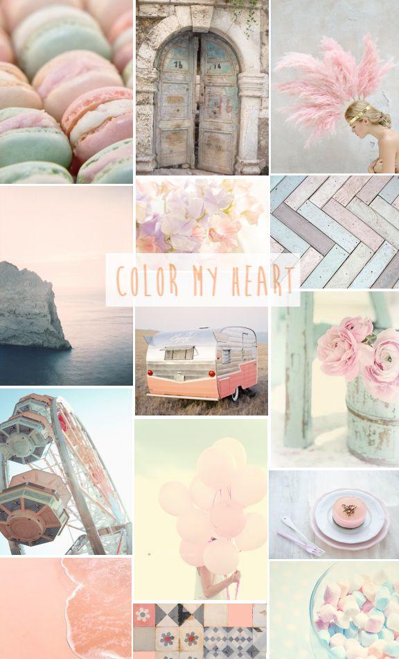 inspiration moodboard pastel colors une parisienne sémerveille