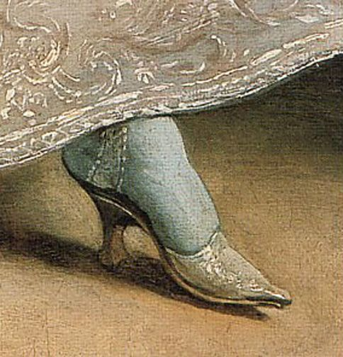 Beautiful...but I just couldn't cram my toes into something so narrow and high heeled.  These poor women didn't know about Nike back then.