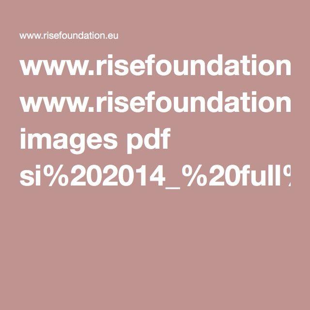 www.risefoundation.eu images pdf si%202014_%20full%20report.pdf