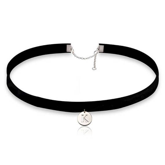 Hey, I found this really awesome Etsy listing at https://www.etsy.com/il-en/listing/531785723/initial-choker-necklace-initial-choker