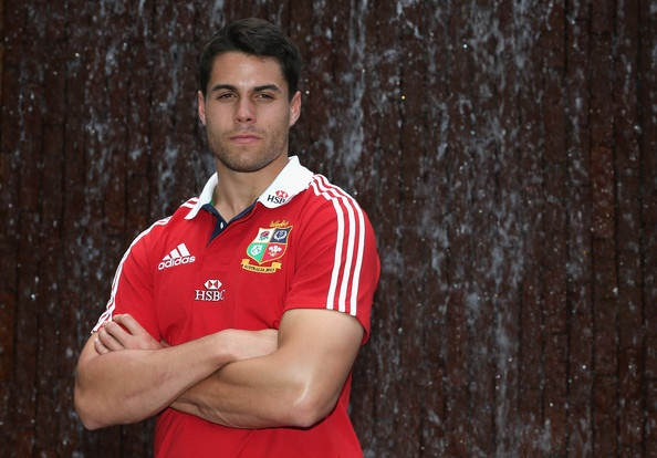 Sean Maitland, the Lions wing, poses at the Grand Hyatt hotel after the British and Lions media session on May 31, 2013 in Hong Kong.